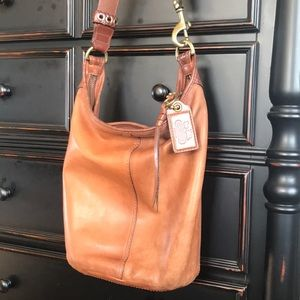 Coach Glove-Tanned Leather Bucket Bag
